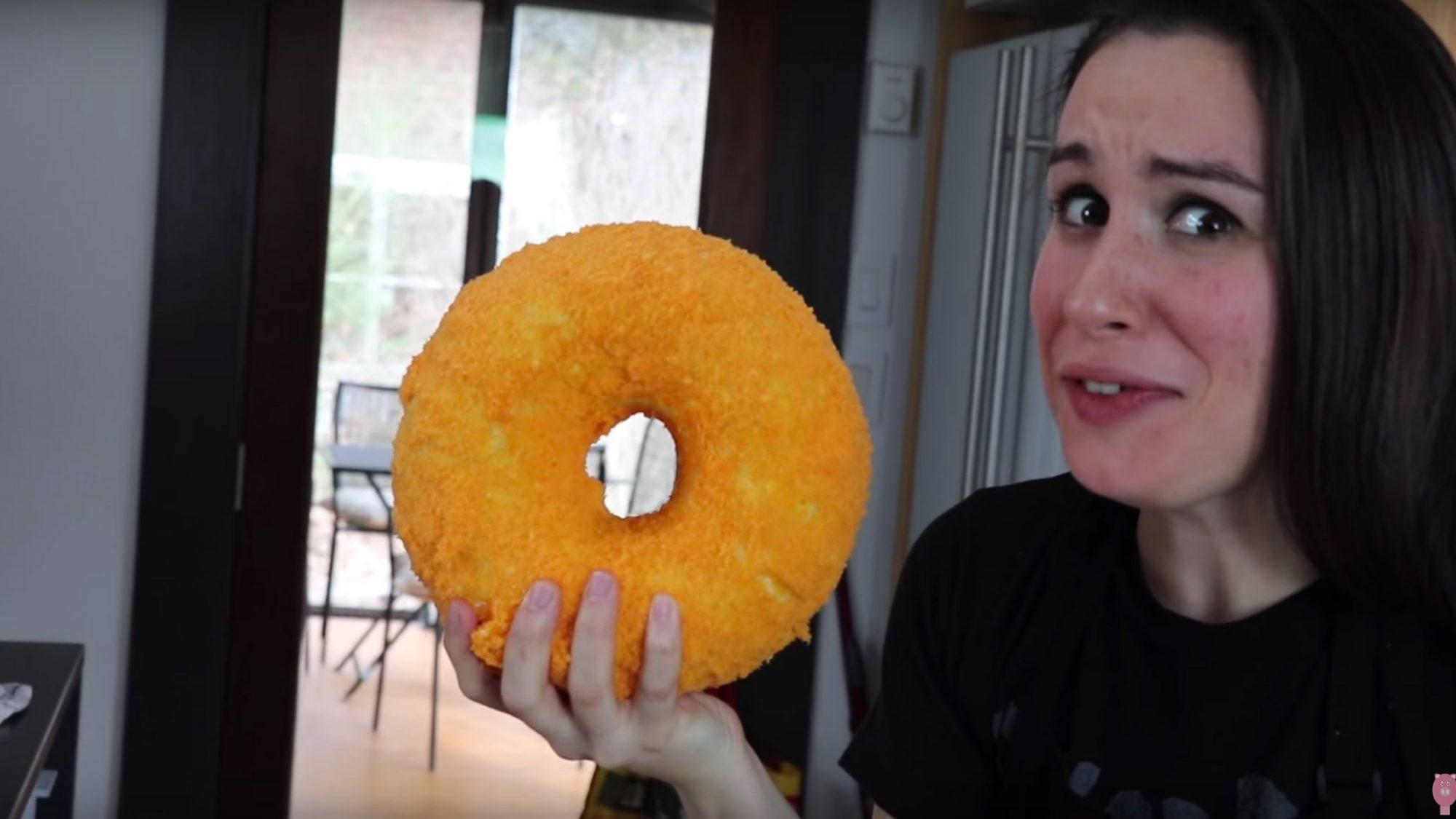 EC: This Mac n' Cheese and Cheetos Doughnut Has a Whopping 8,950 Calories