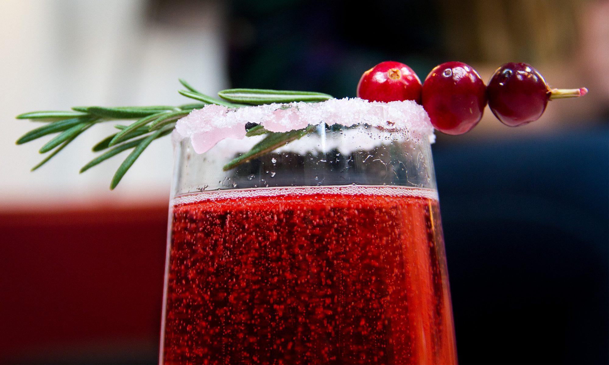 EC: Fizz the Season for Cranberry Champagne Cocktails