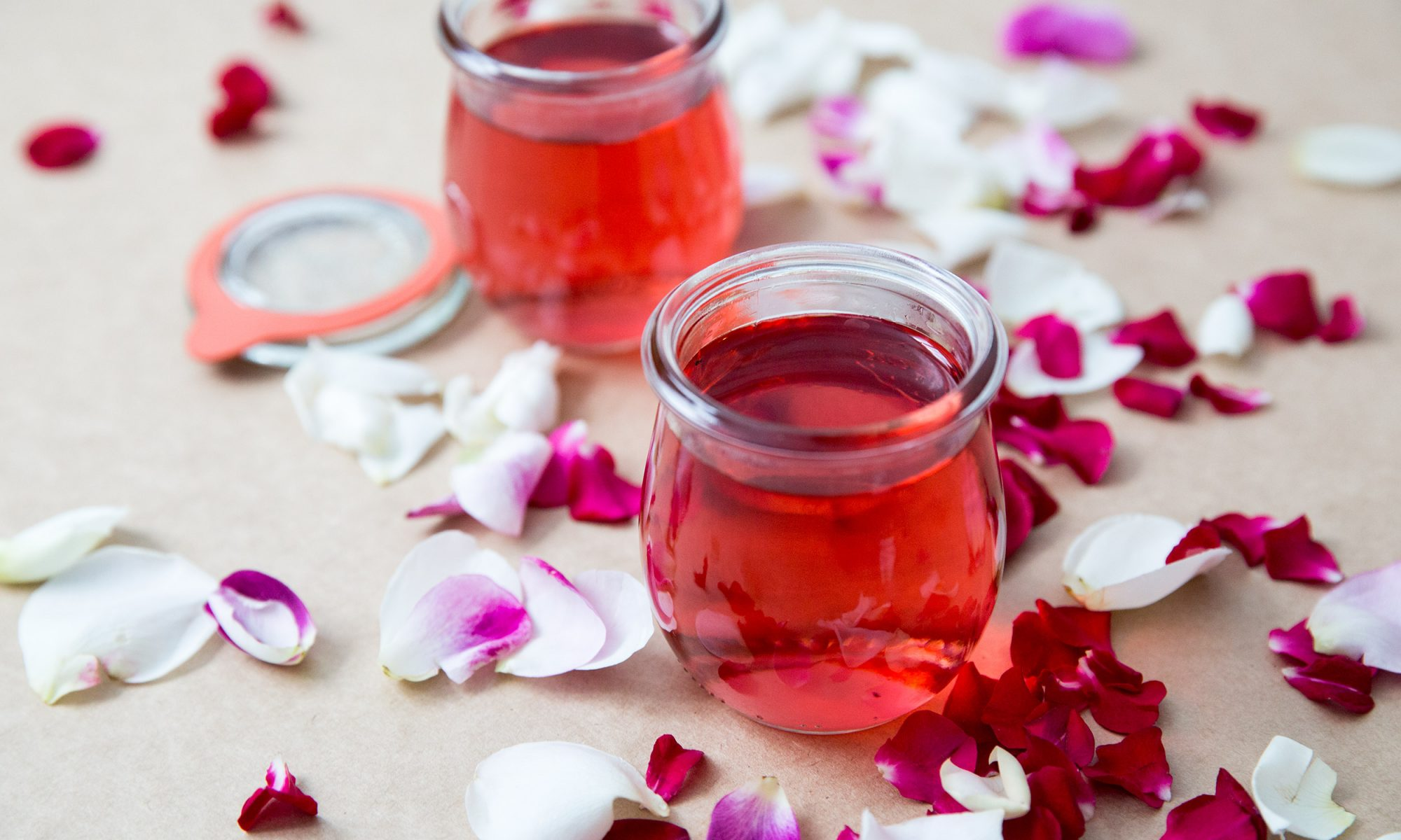 How to Make Homemade Rose Simple Syrup