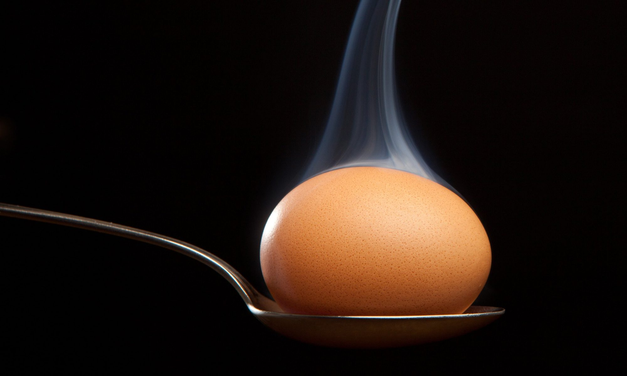 egg in a spoon