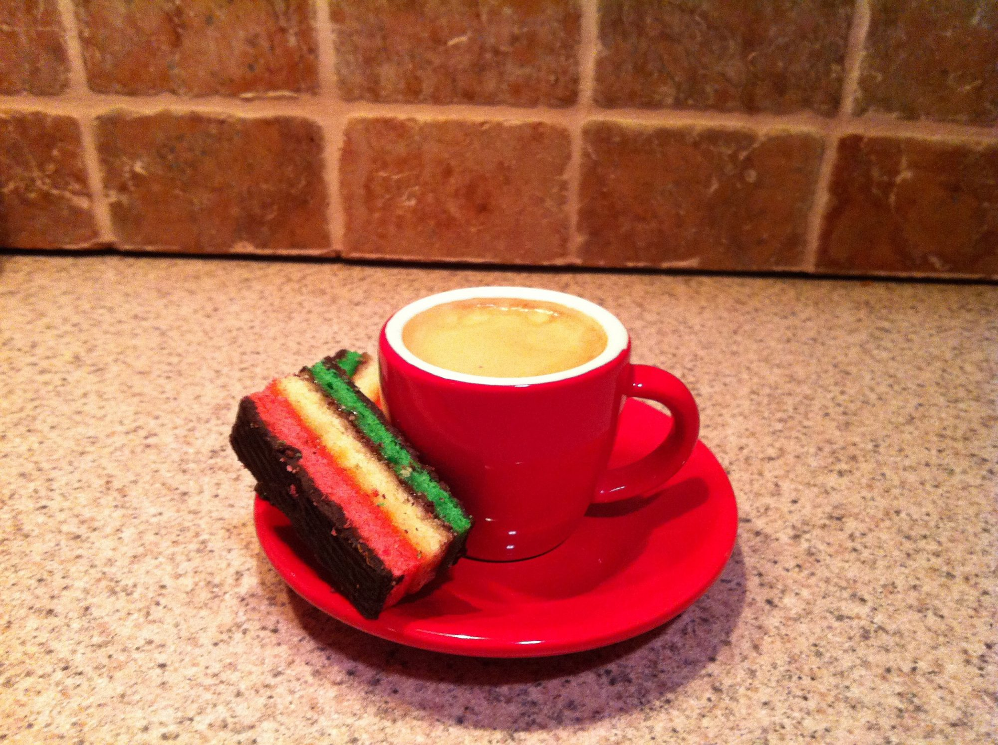 EC: The Italian Rainbow Cookie Doughnut Is Dessert Disguised as Breakfast