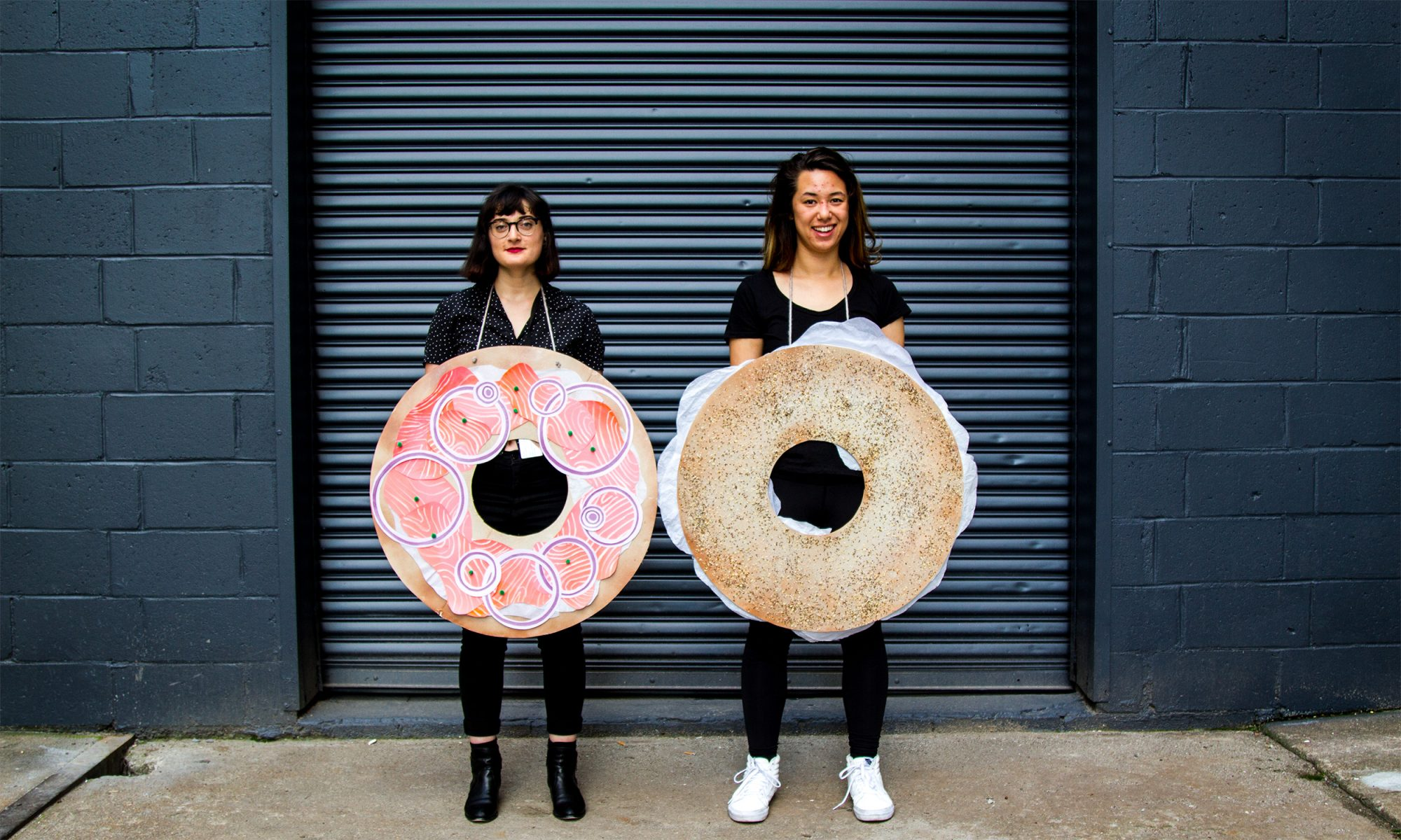 Make This DIY Bagel and Lox Couples Costume for You and Your Bae-gel