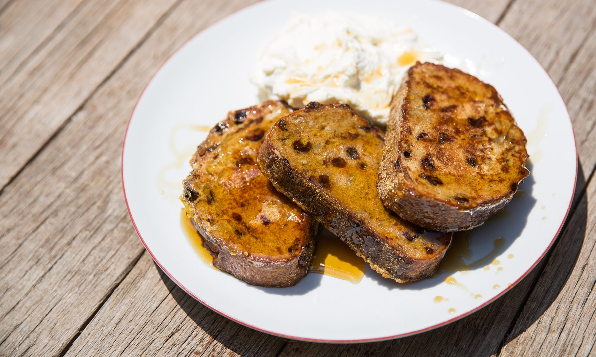 Boozy Bourbon-Soaked Cinnamon-Raisin French Toast