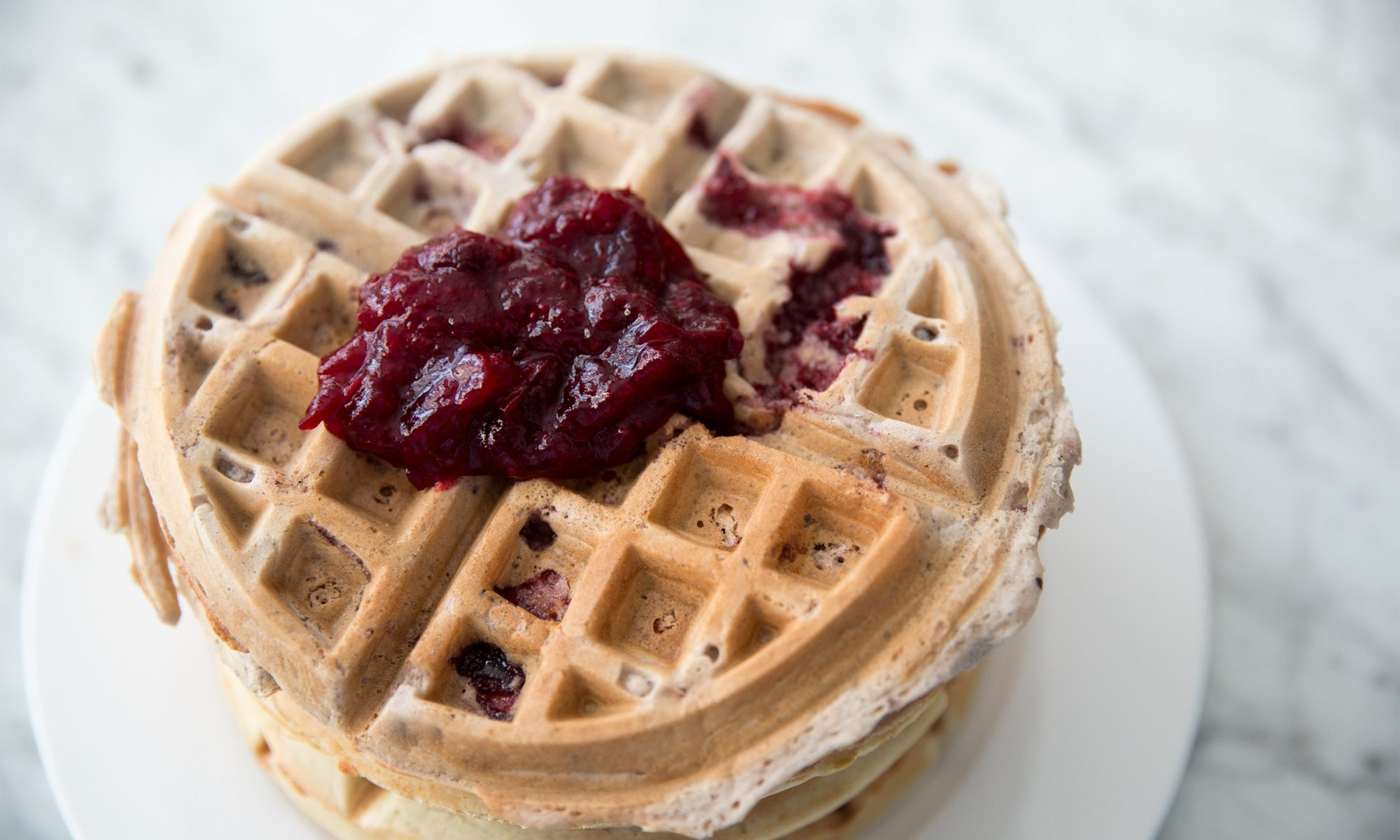EC: Mix Leftover Cranberry Sauce Into Your Waffle Batter