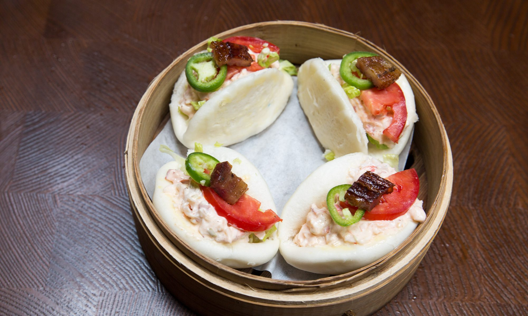Lobster BLT Steamed Buns with Old Bay Mayo Are Claws for Celebration
