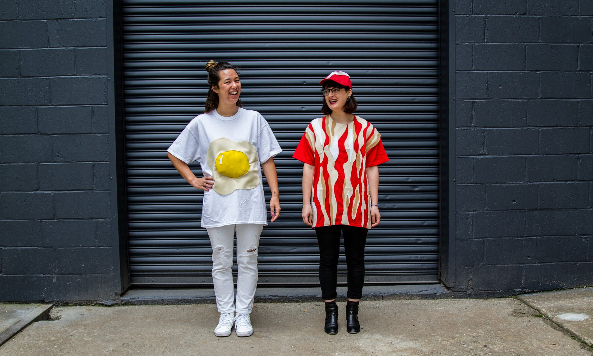 The Best DIY Breakfast Halloween Costume Is Bacon and Eggs