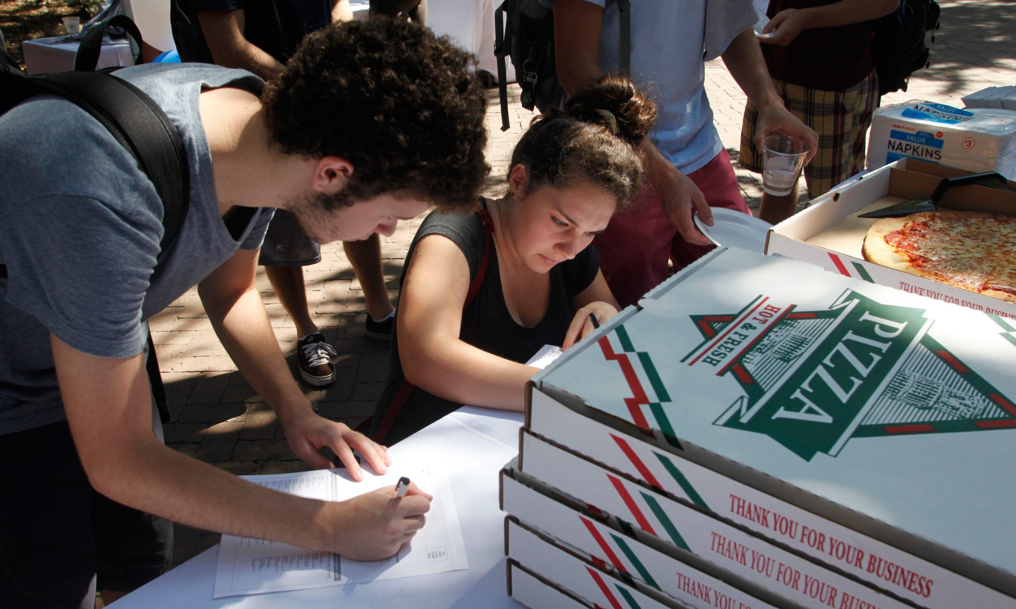 EC: Pizza to the Polls Brings Slices of Salvation to Voters in Long Lines