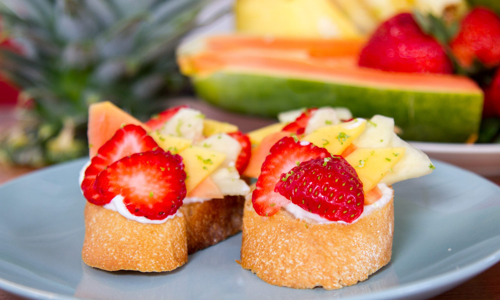 EC: This Multicolored Breakfast Bruschetta Is a Tropical Island on Sliced Bread