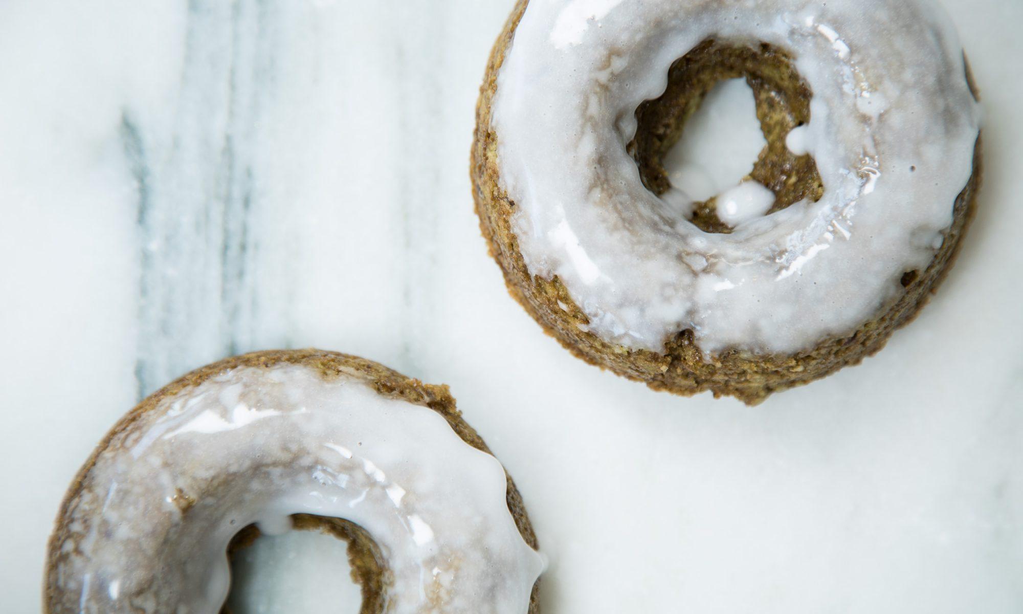 EC: 20-Minute Baked Matcha Doughnuts