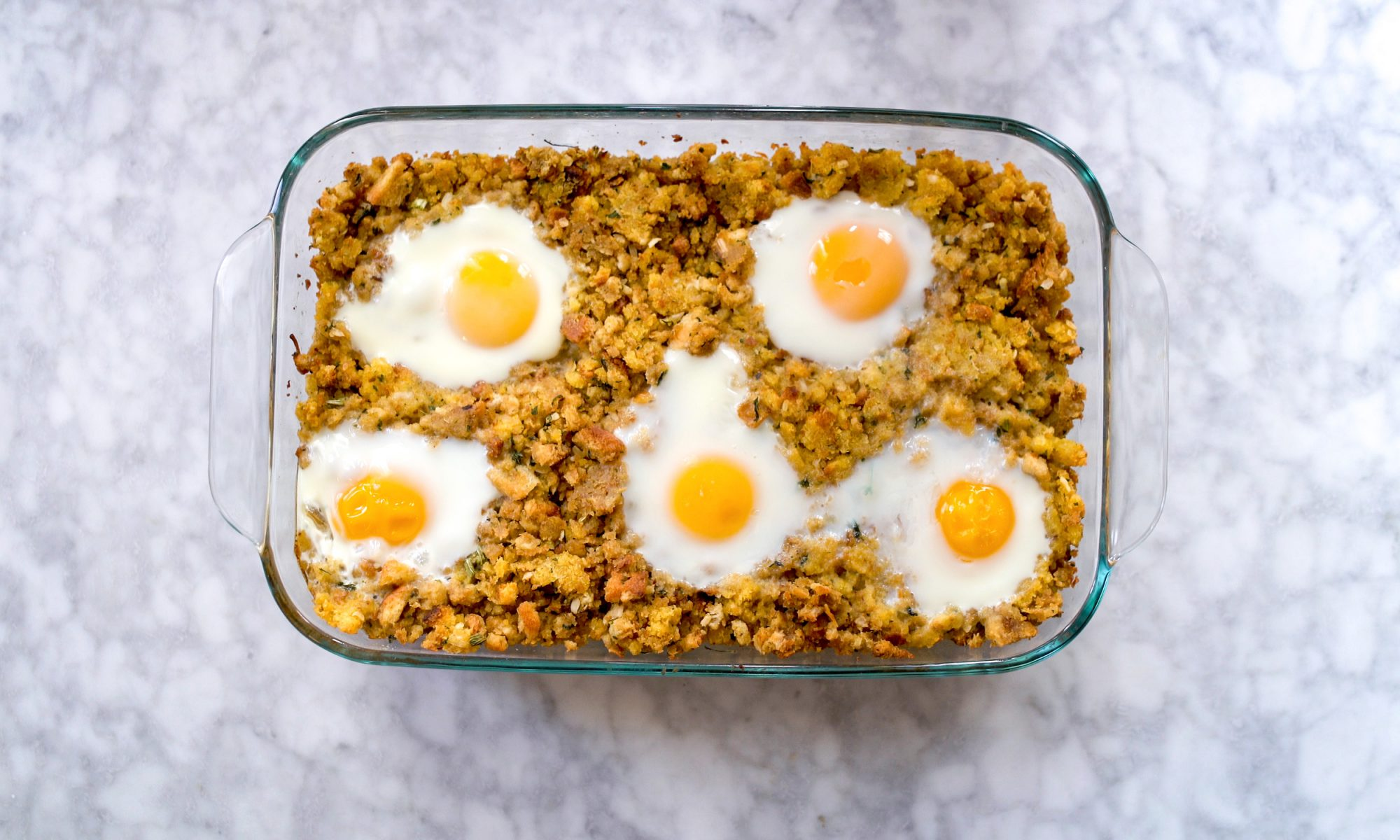 EC: Day-After-Thanksgiving Leftover Stuffing Breakfast Strata
