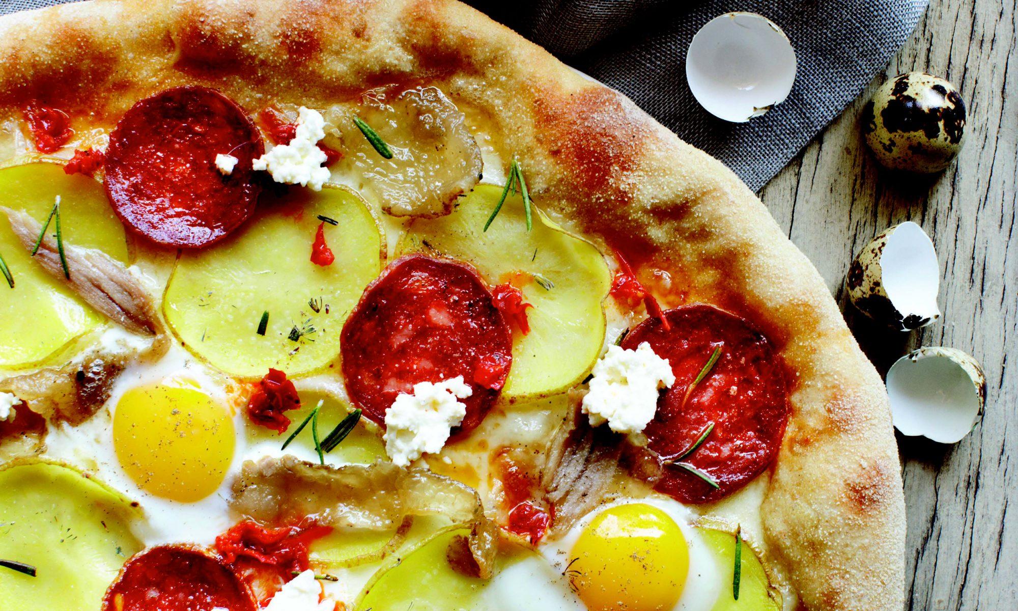 EC: Breakfast Pizza, West Coast Style