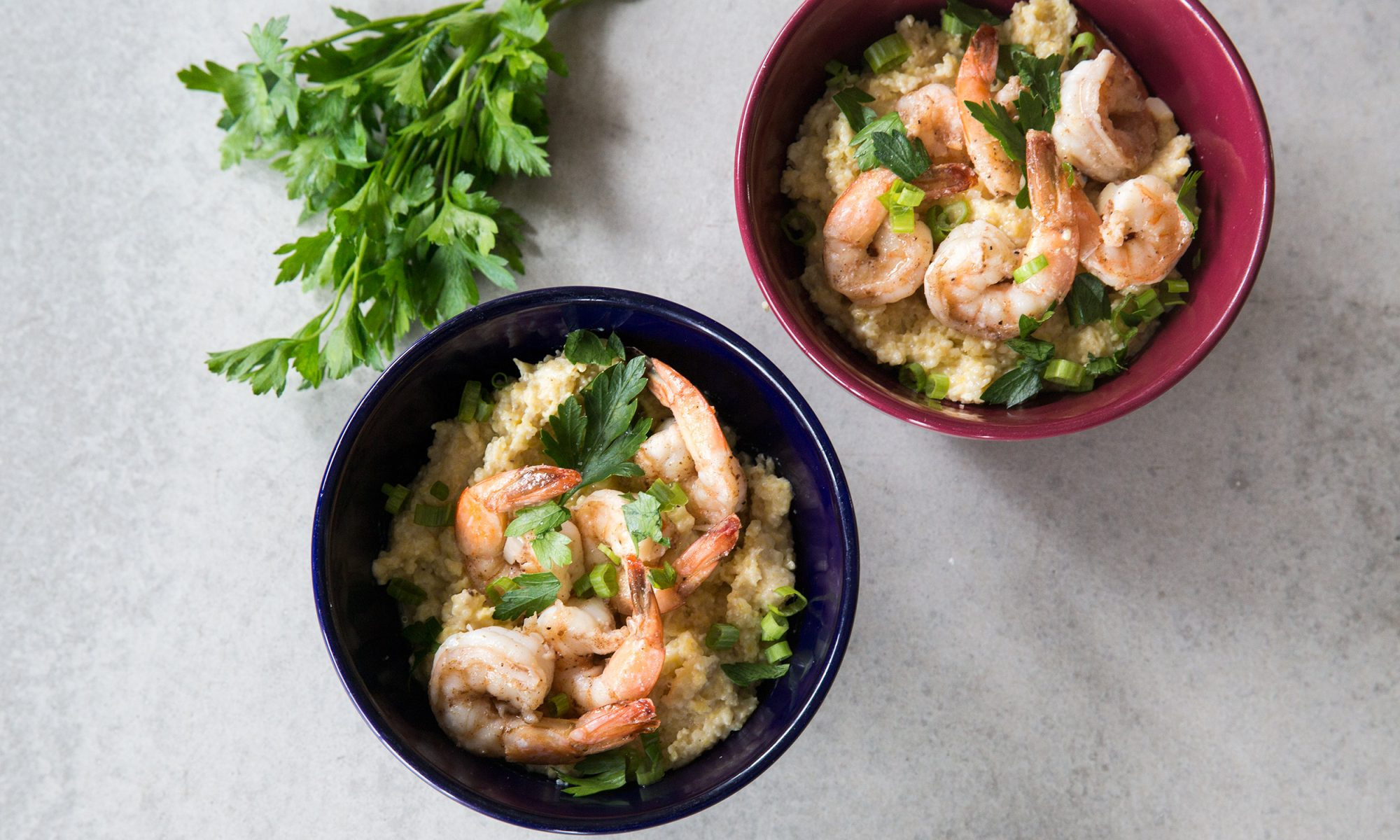 Vadouvan Shrimp and Grits Is a South Indian Take on a Southern Favorite