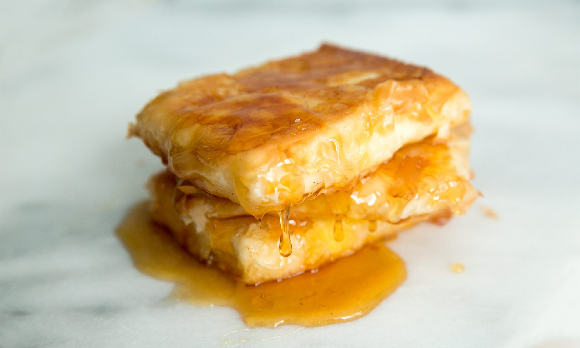 Fried Feta with Honey Is the Sweetest Breakfast