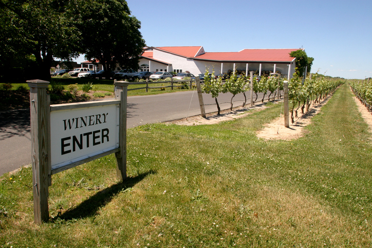 Entrance to a winery in Long Island