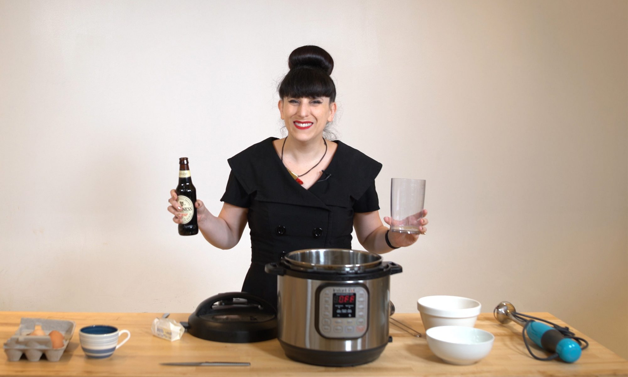 beer and eggs in an Instant Pot