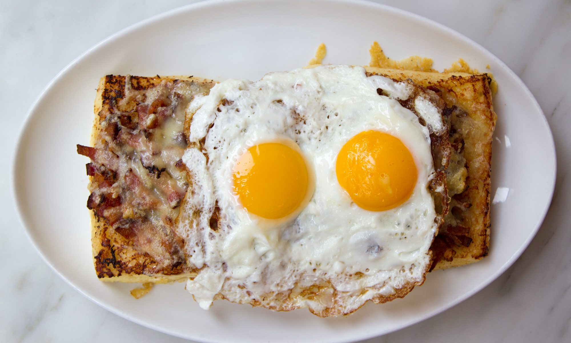 EC: Top Your French Toast with Bacon, Egg, and Cheese