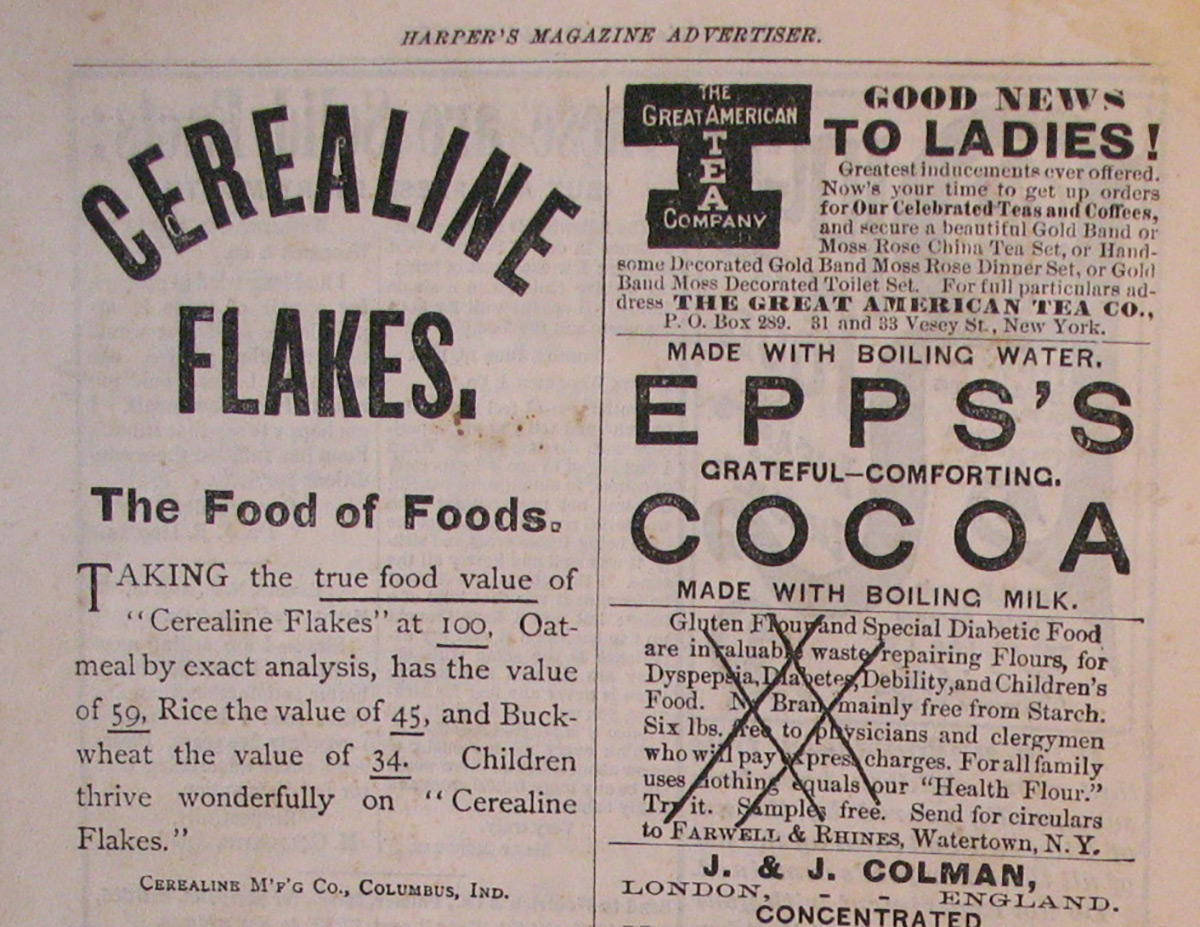 cerealine advertisement
