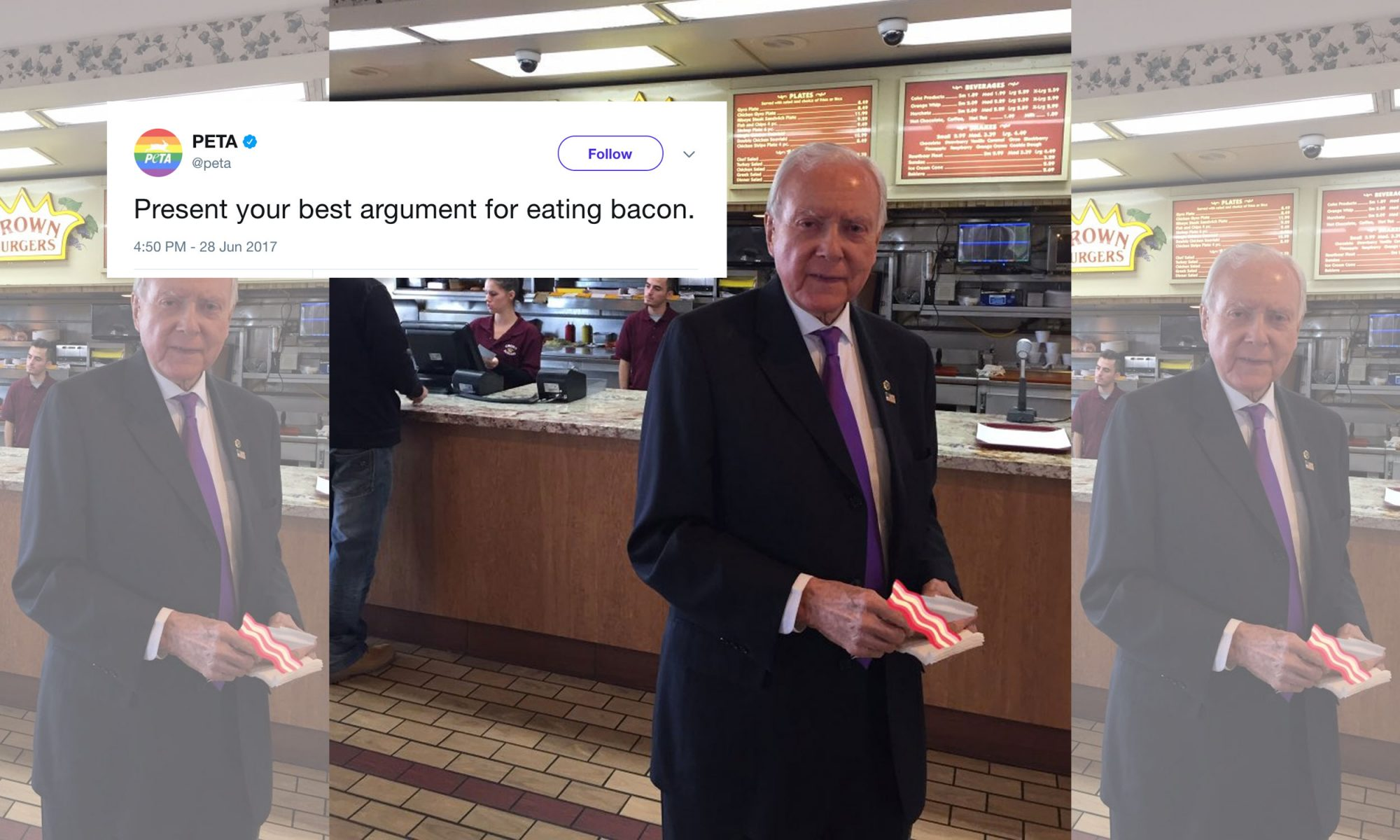 EC: PETA Asks People Why They Eat Bacon and Gets Trolled by US Senator