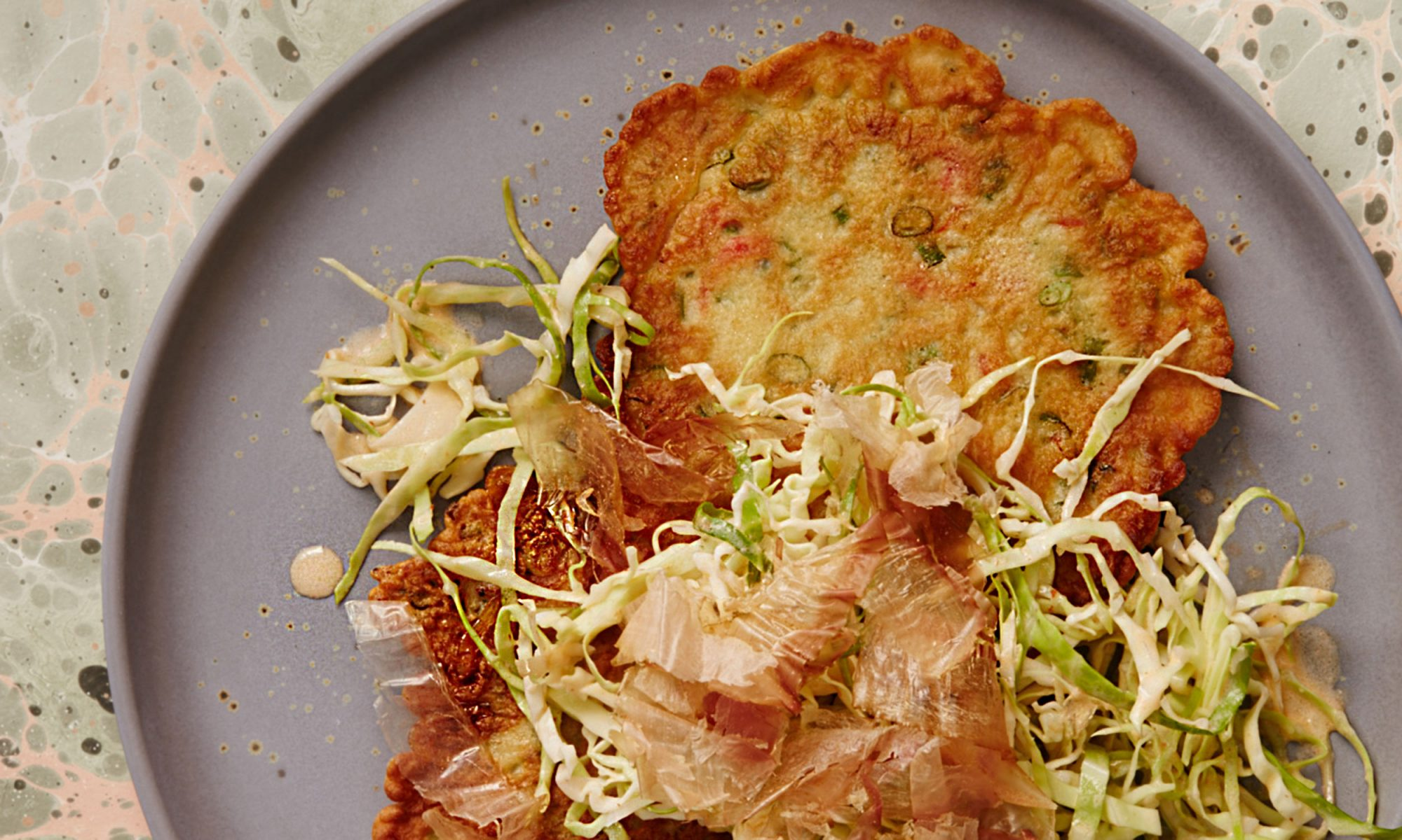 EC: This Green Onion Pancake with Spicy Slaw Redefines What a Breakfast Salad Can Be