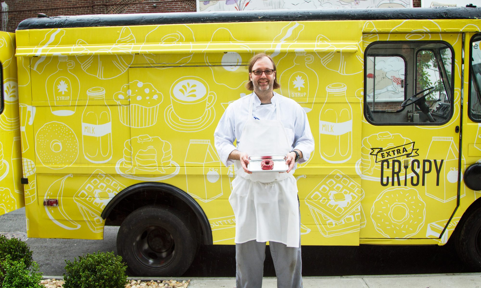 EC: Wylie Dufresne Served Doughnuts from the Extra Crispy Food Truck