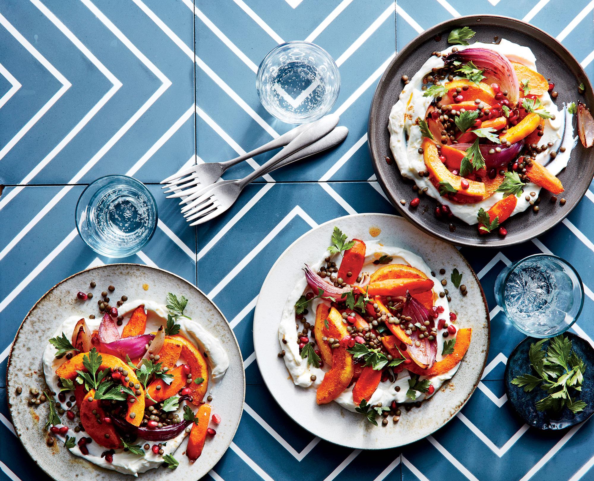 Fall Vegetable and Lentil Salad
