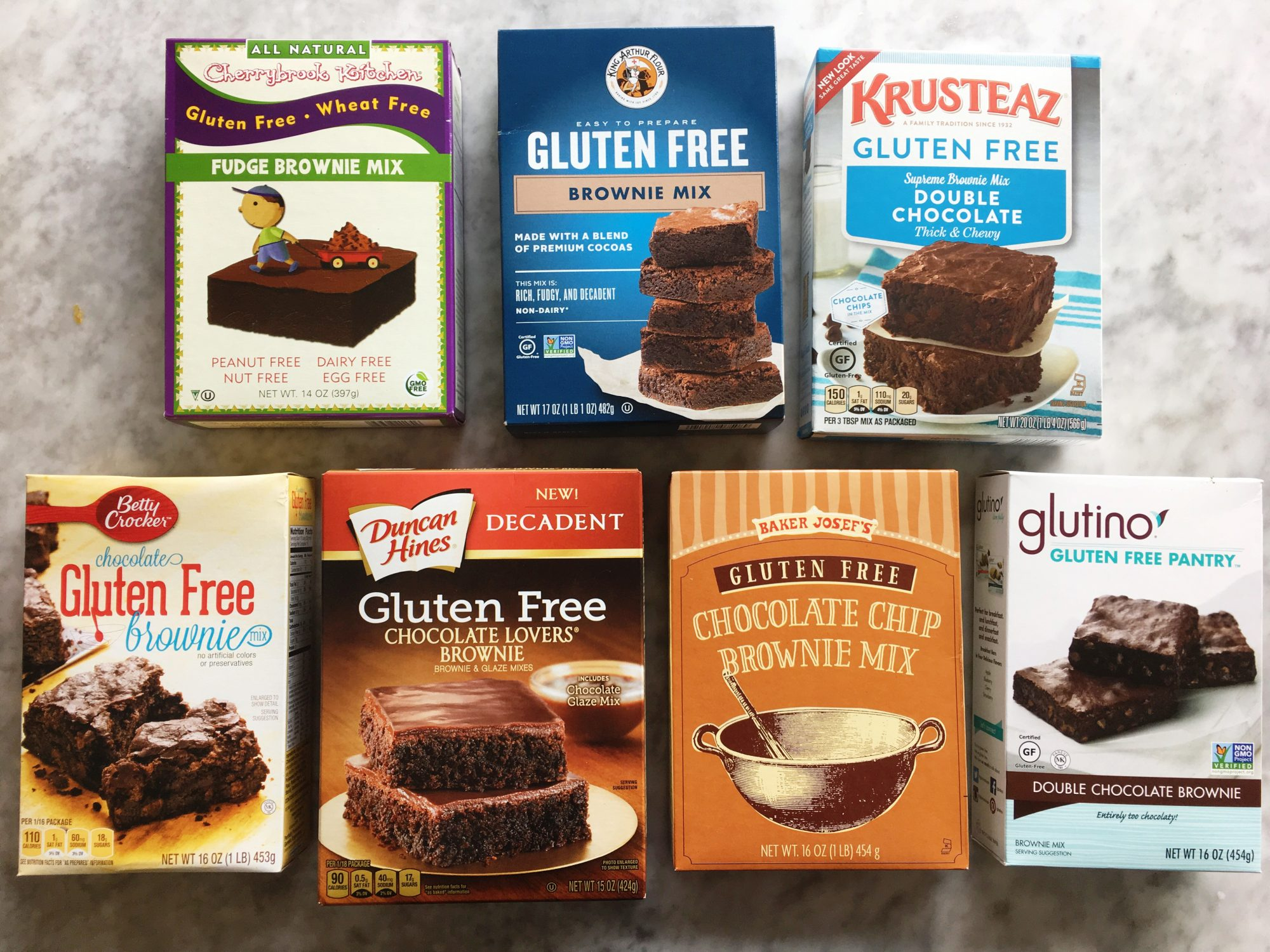 Gluten Free Brownie Boxed Mixes