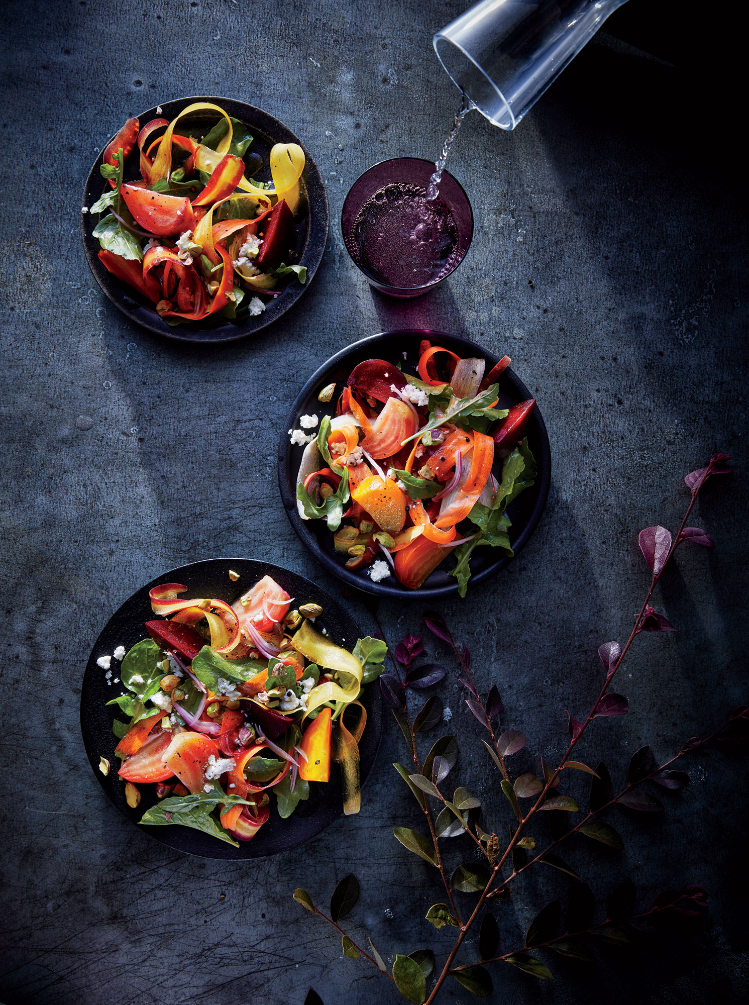 Tricolor Beet-and-Carrot Salad