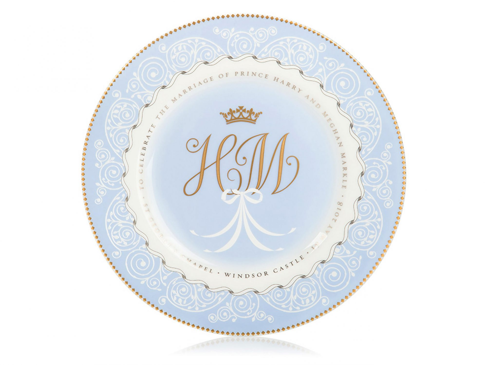 You Can Buy Meghan Markle and Prince Harry's Official Wedding China 1803w-Wedding-China-Plate
