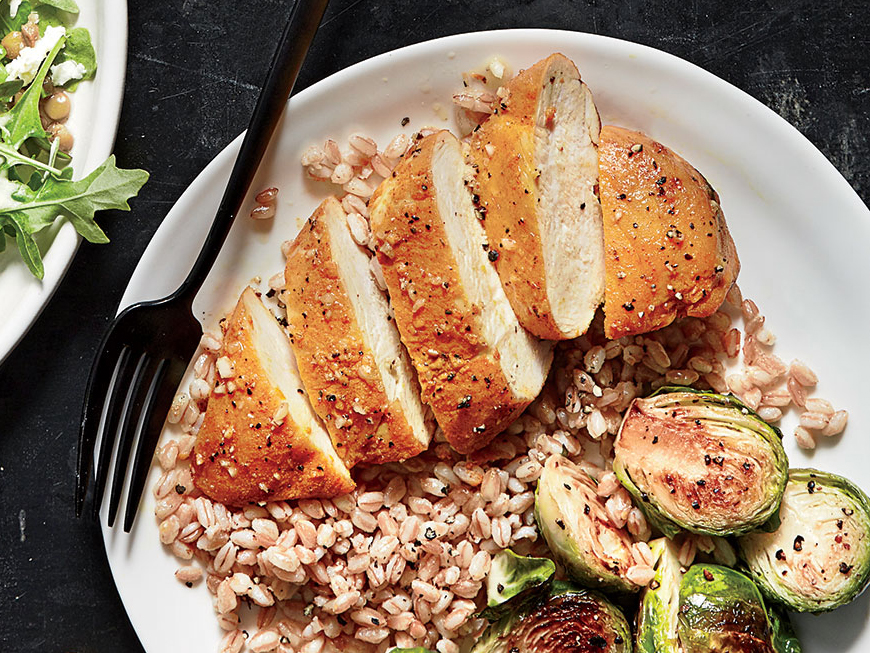 Turmeric-Roasted Chicken with Farro
