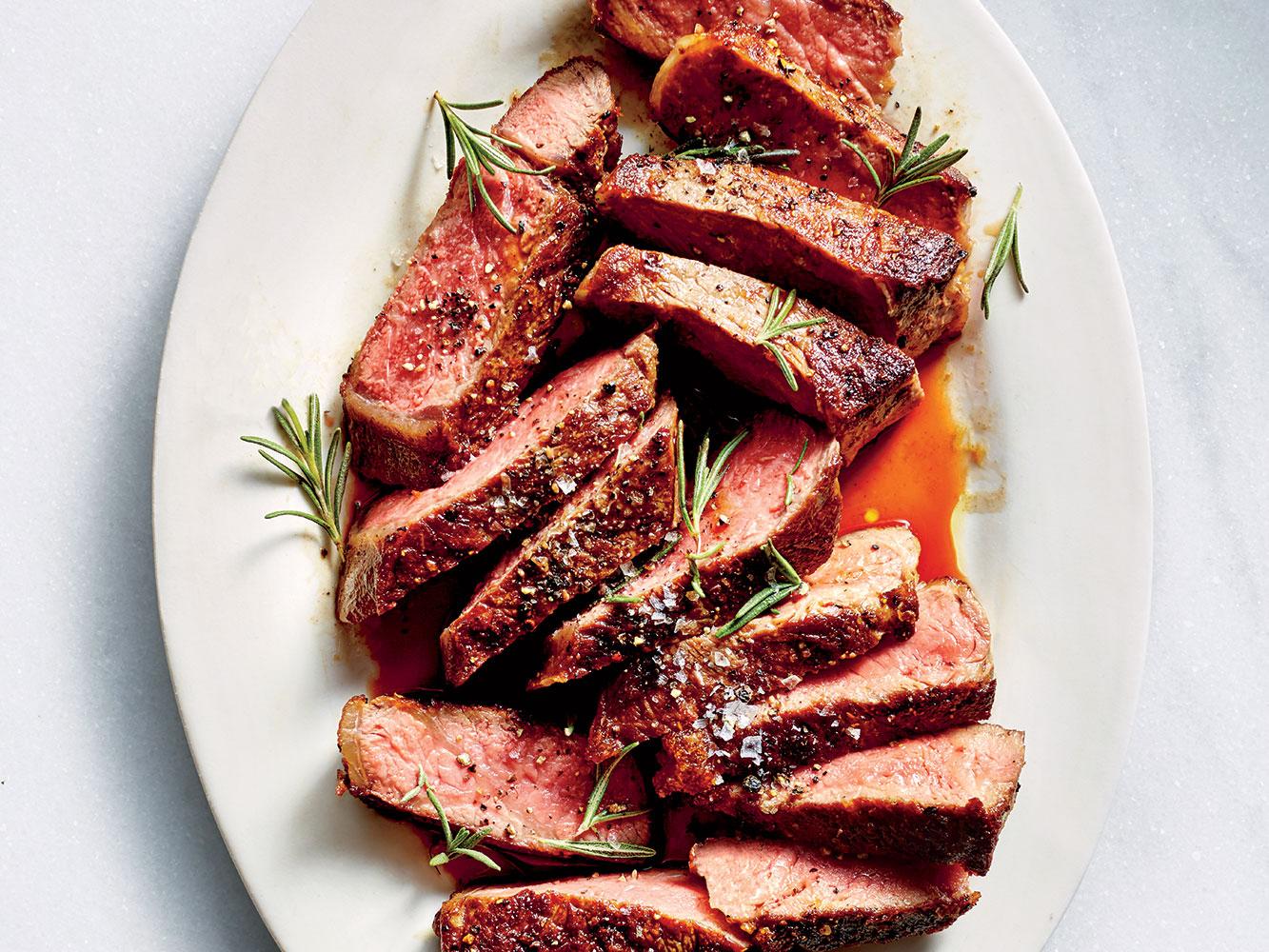 Garlicky New York Strip Steak
