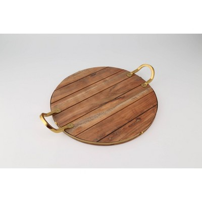 Thirstystone Acacia Wood Panel Serving Tray