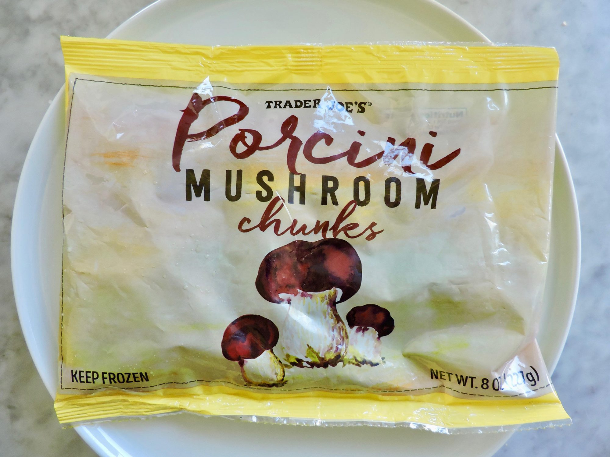 15 Nutritionist-Approved Trader Joe's Foods for $5 or Less 1804w-Porcini-Mushroom-Chunks