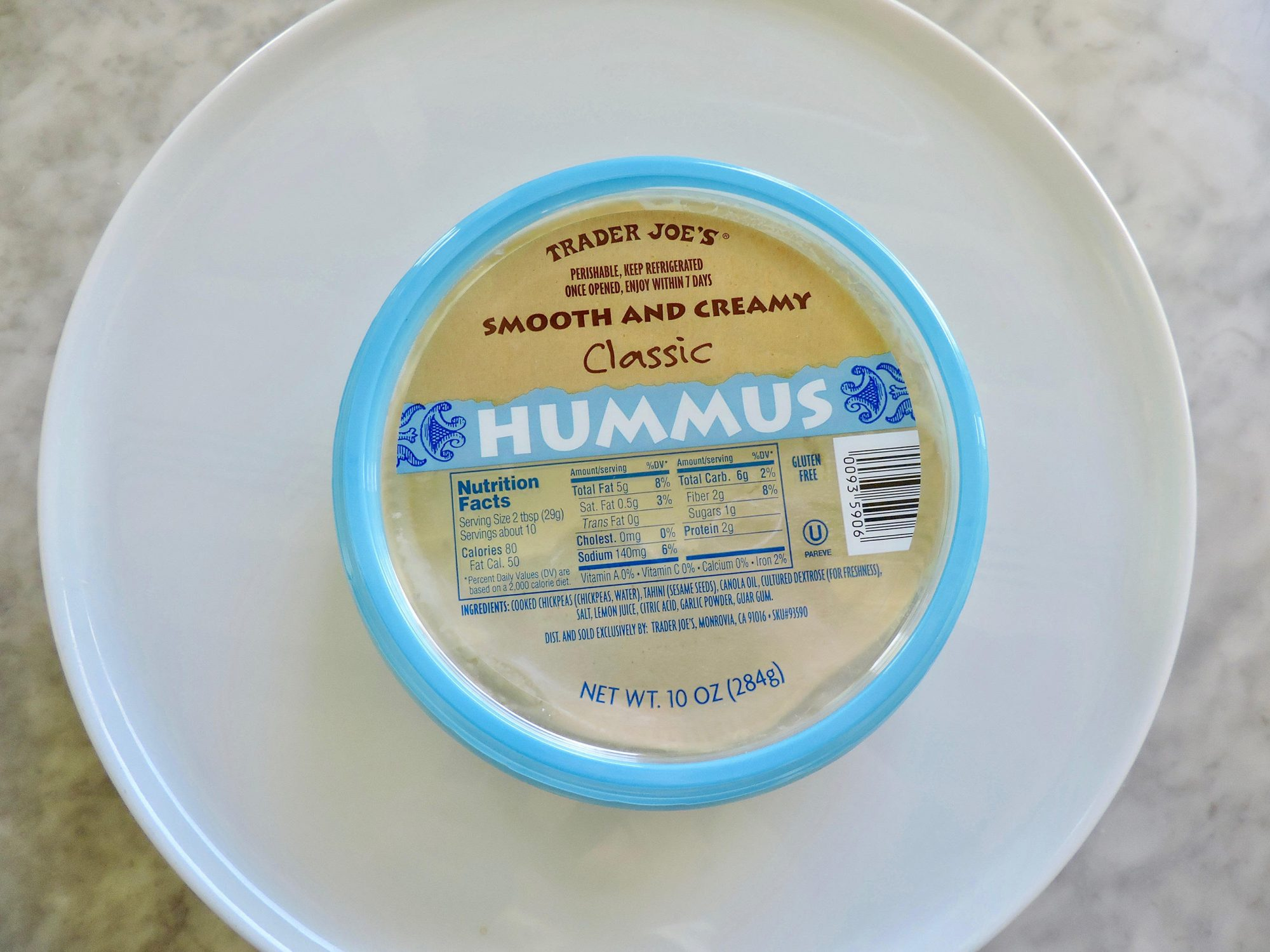 15 Nutritionist-Approved Trader Joe's Foods for $5 or Less 1804w-Trader-Joes-Hummus