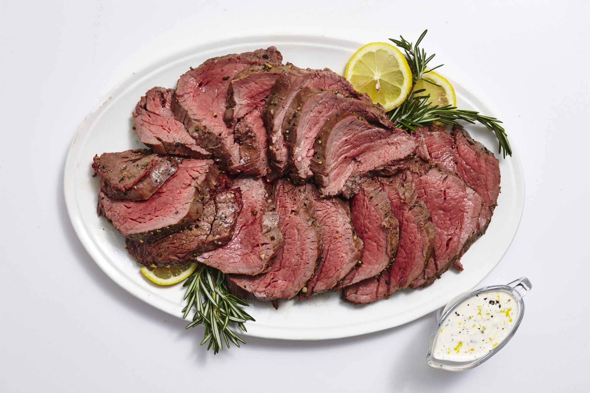 Whole Smoked Beef Tenderloin with Lemon Horseradish Cream
