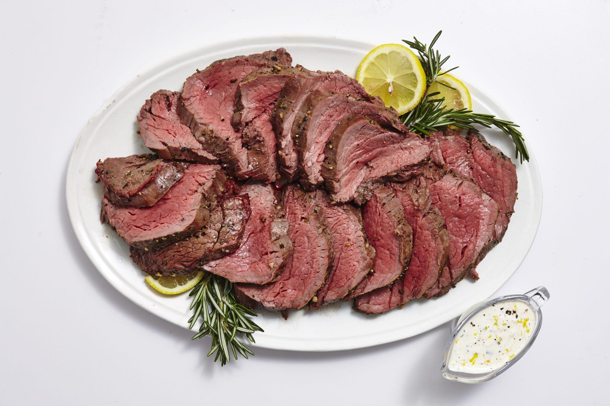 Whole Smoked Beef Tenderloin with Lemon Horseradish Cream image
