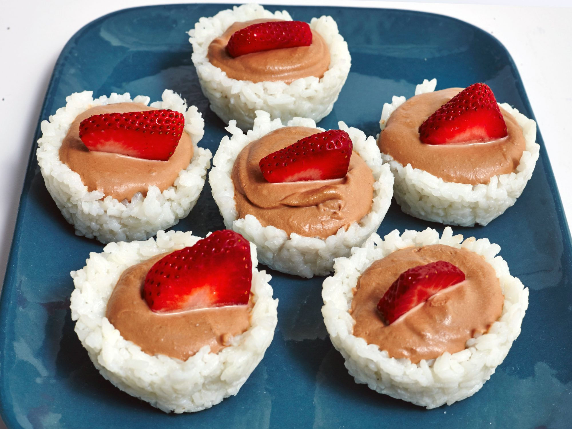 Strawberry Nutella Sushi Cups image