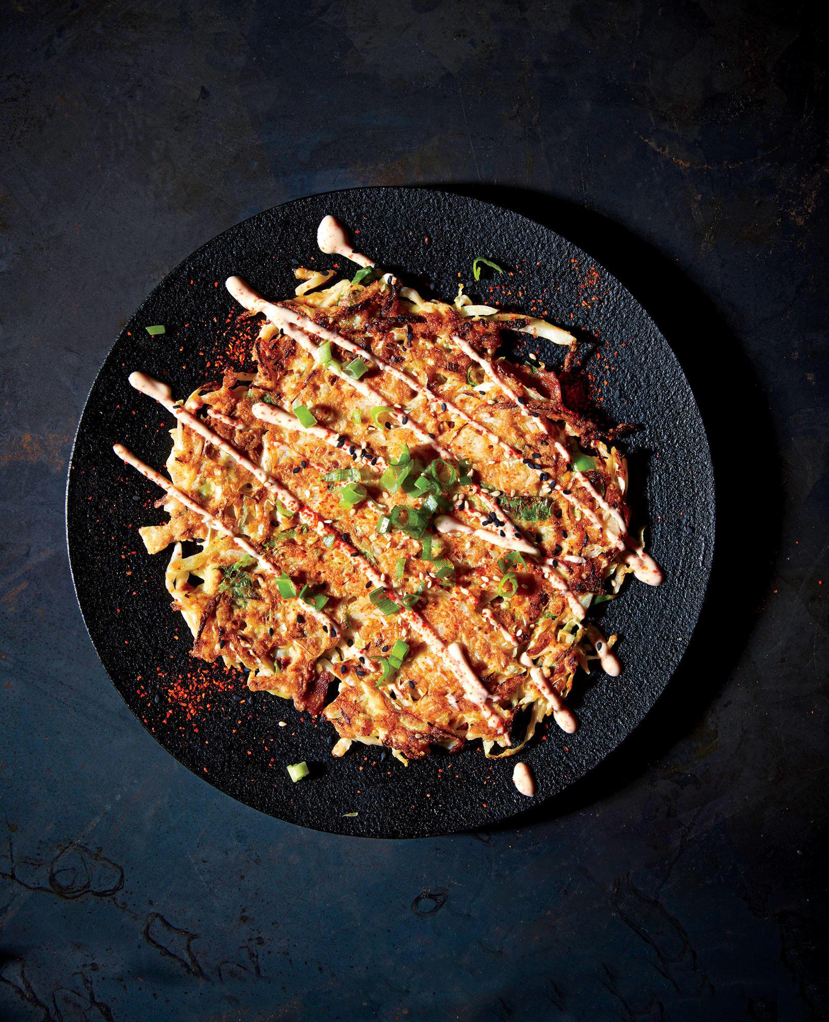 Cabbage Okonomiyaki (Pancakes)
