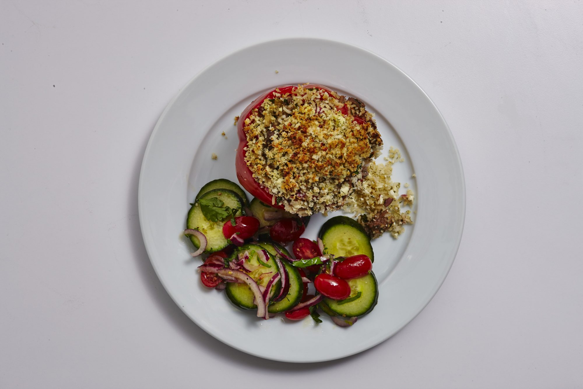 Greek Stuffed Peppers image