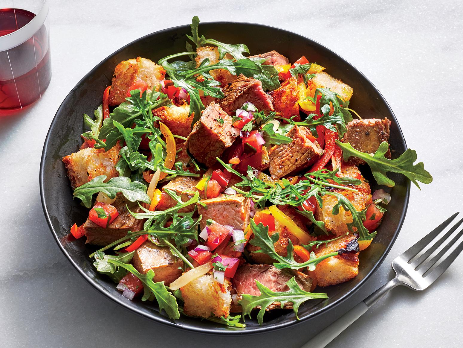 Fajita Panzanella Salad