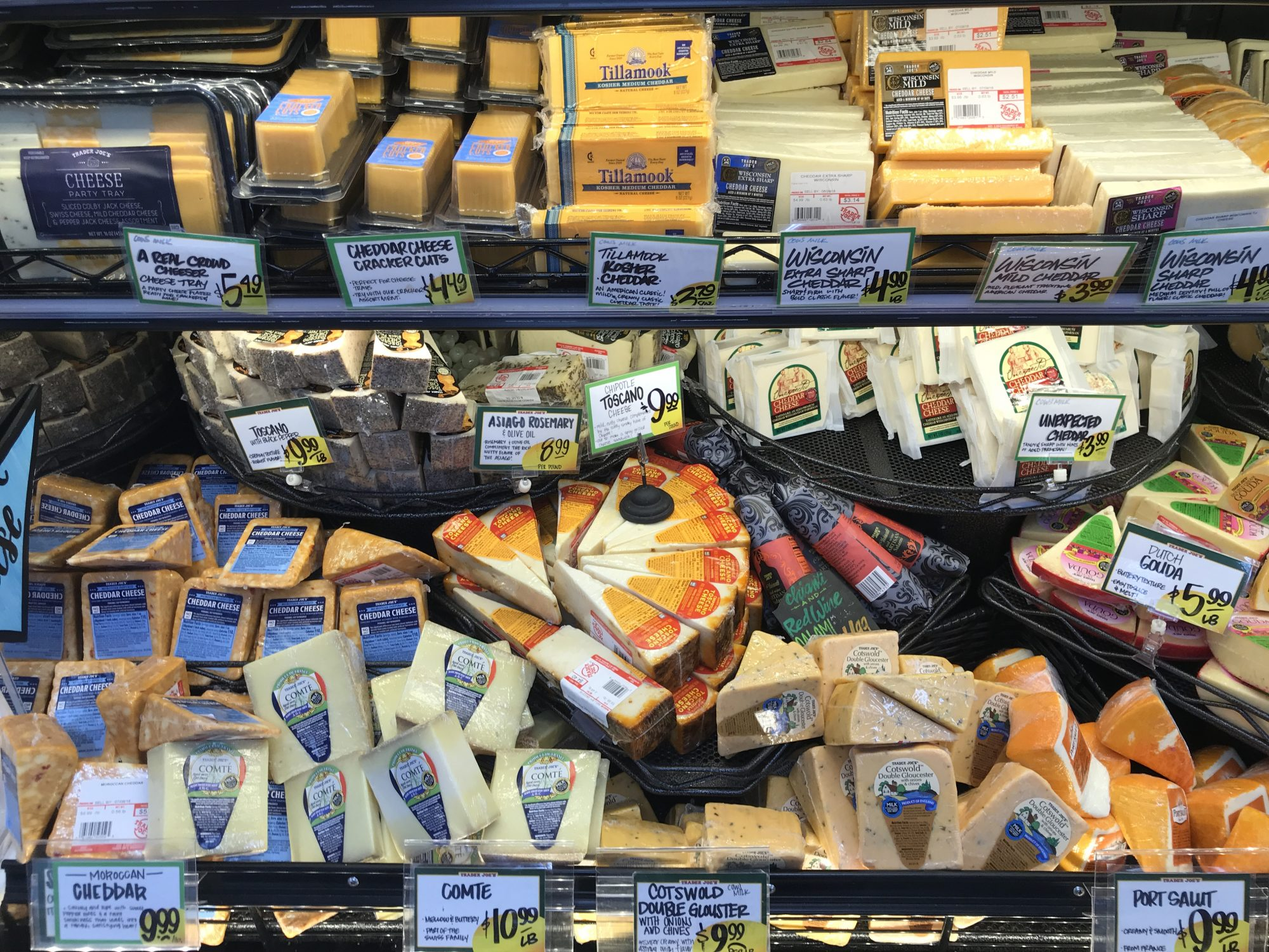 TJ Cheese Section