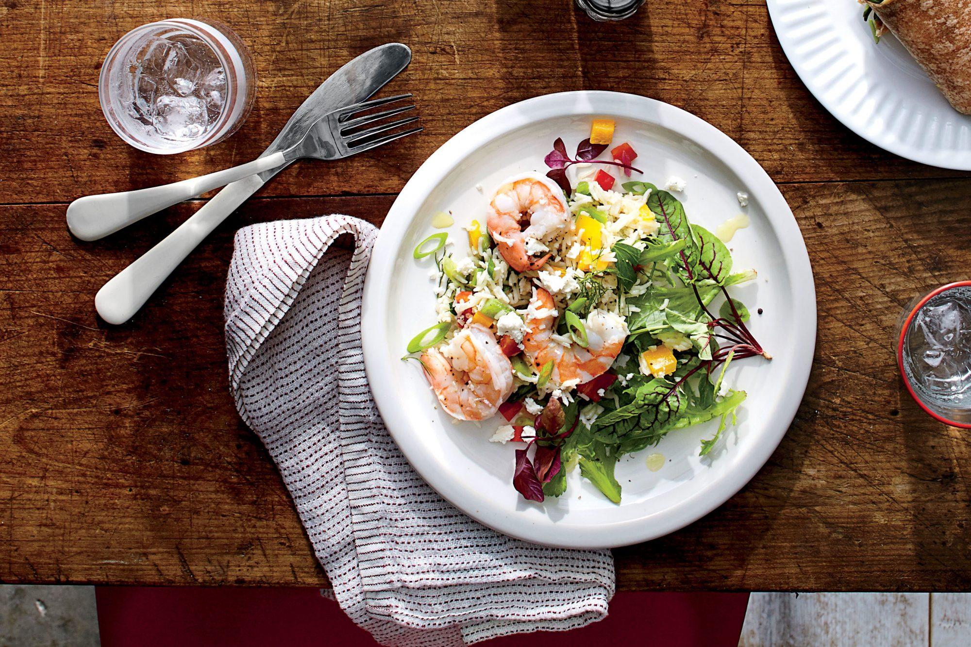 Herbed Shrimp-and-Rice Salad Recipe
