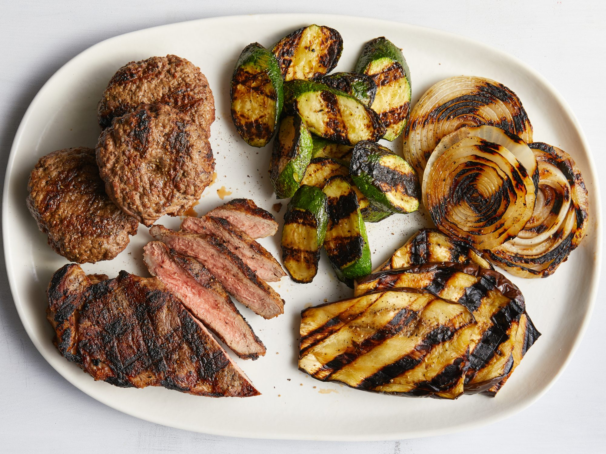 Mr Steak Grill Review Beef and Veggies  Image