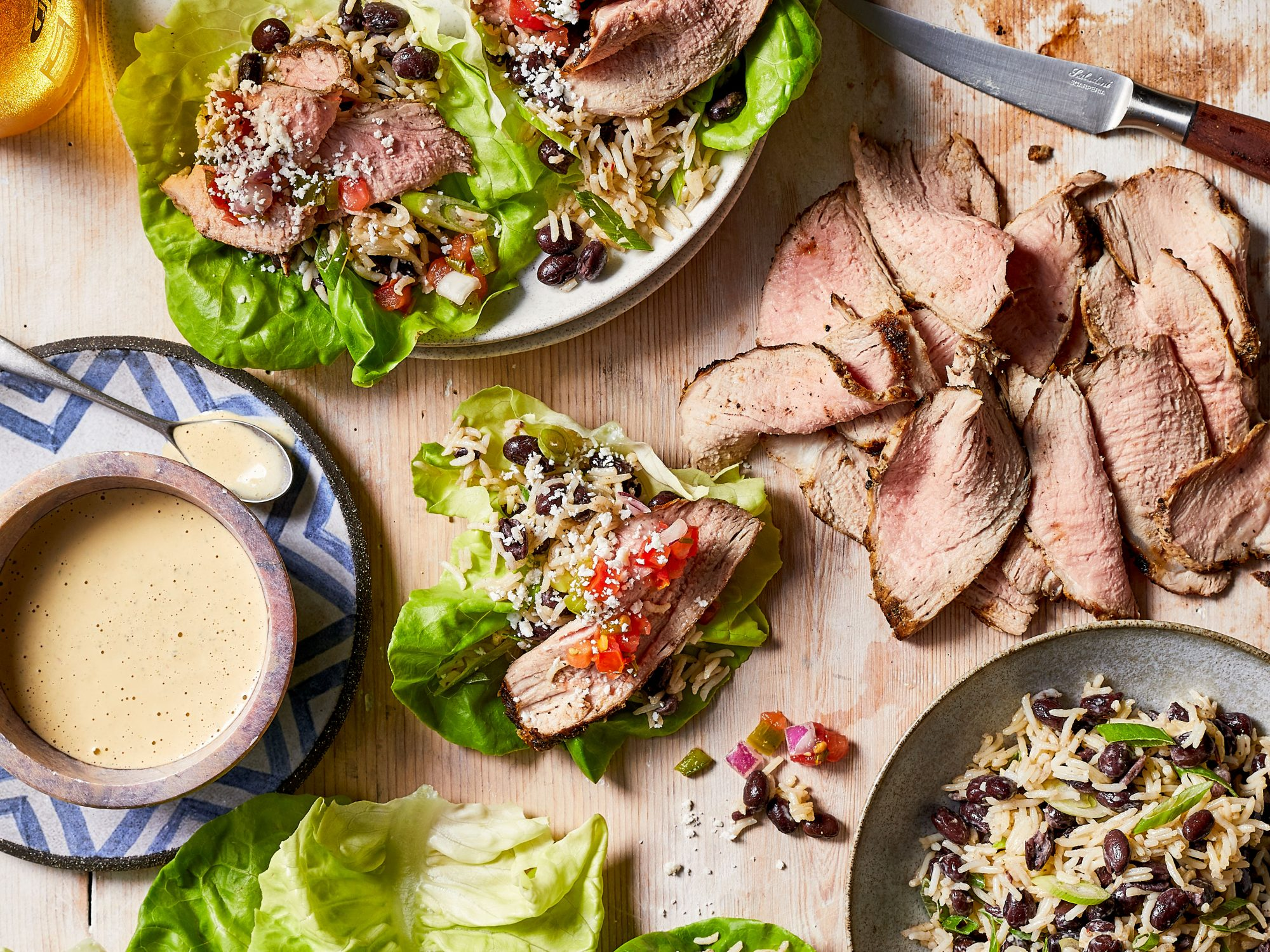 mr- Southwest Pork Lettuce Wraps