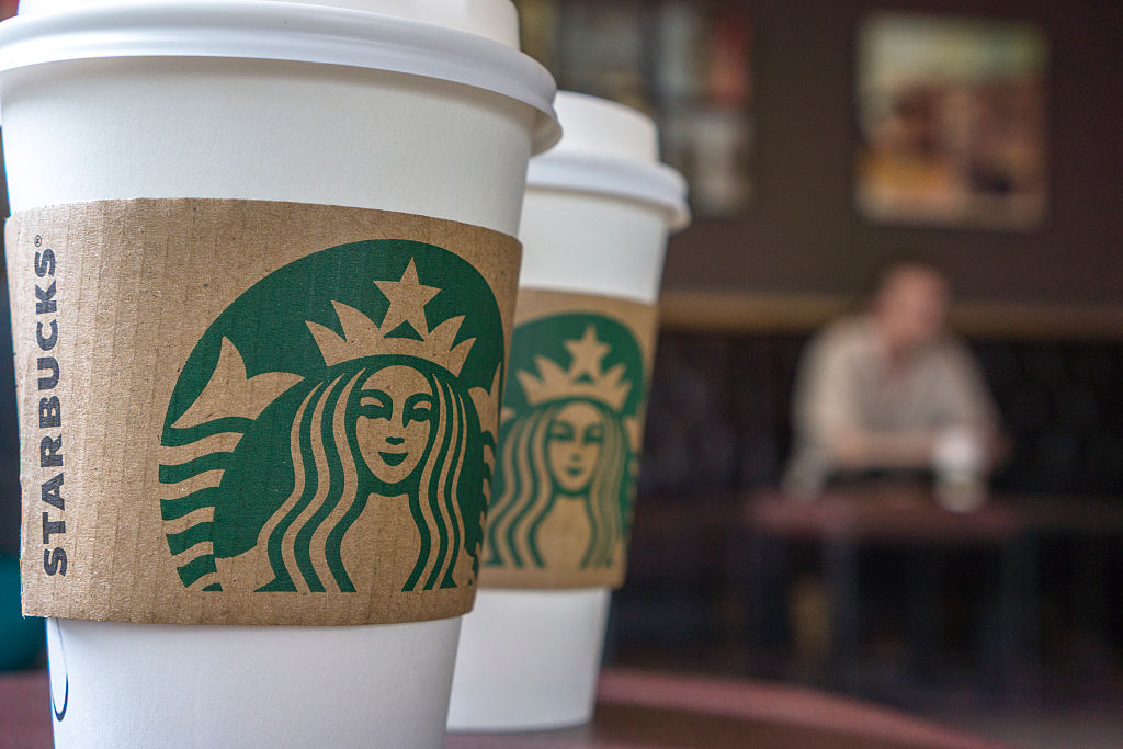 Starbucks to-go cup latte levy