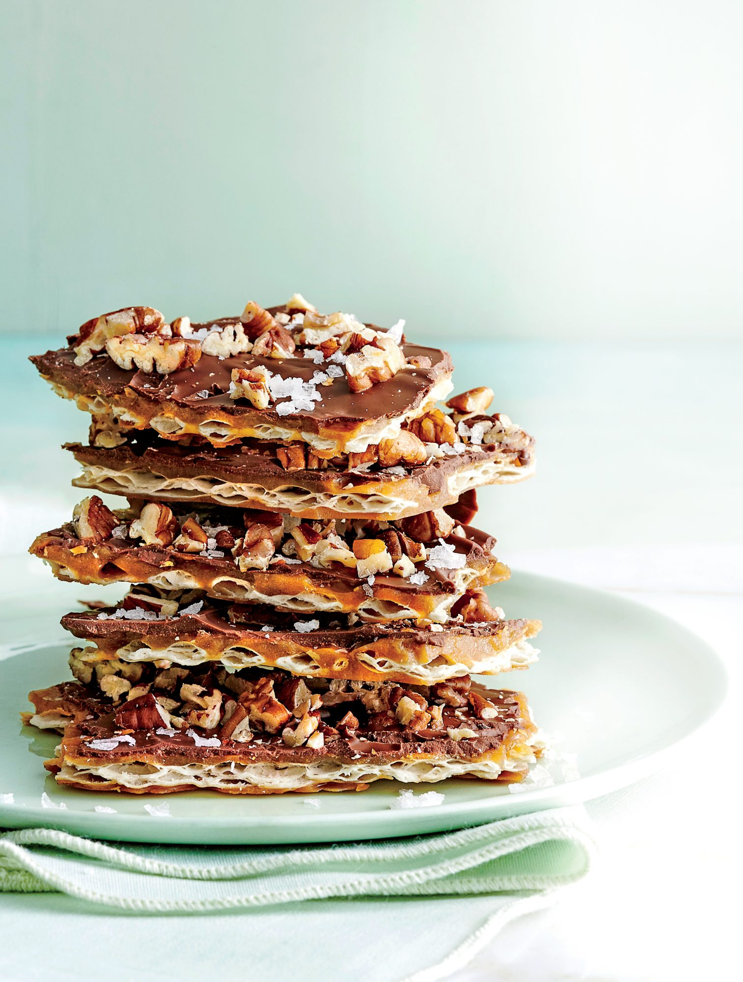 Salted Chocolate Matzo Toffee