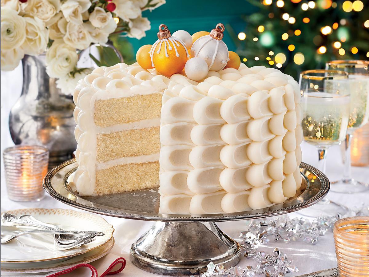 Snowy Vanilla Cake with Cream Cheese Buttercream