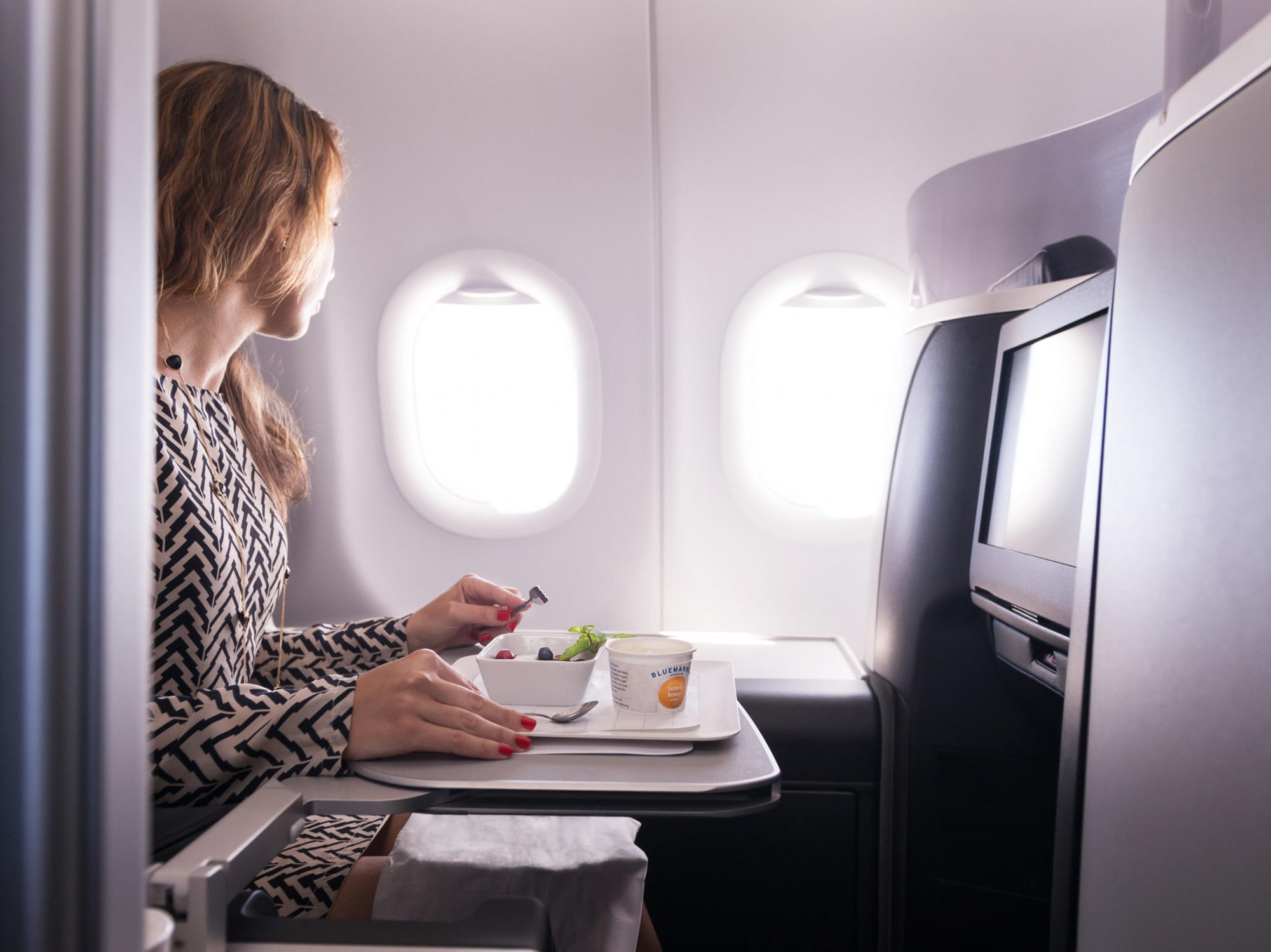 Here's How to Get the Healthiest Airline Meal When Traveling 1808w-Jetblue-mint-seat