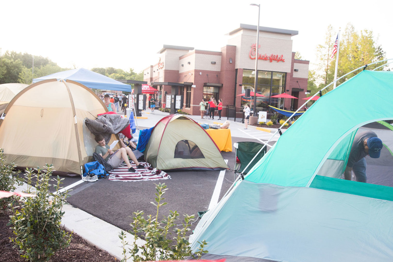 Chick fil A First 100 Campout