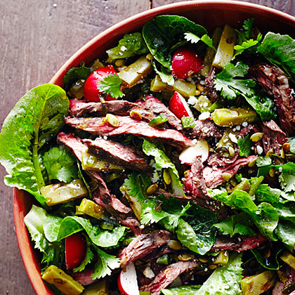Grilled Steak and Nopales Salad