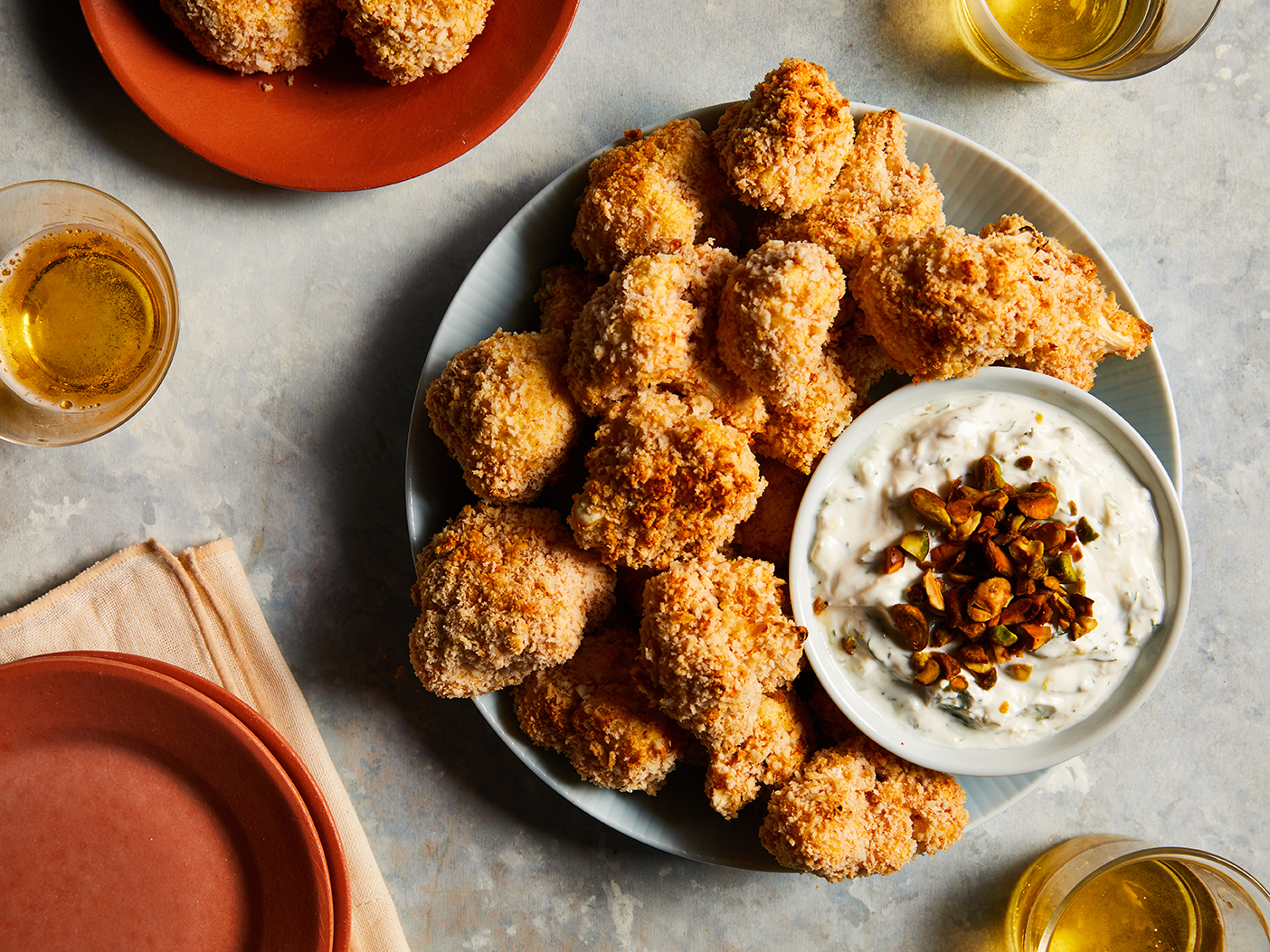mr-Crispy Cauliflower Bites with Herbed Yogurt Dip image